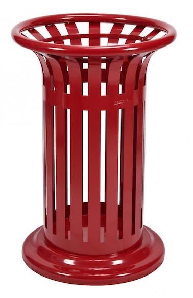 Tulipe prullenbak 60 liter van staal verkrijgbaar in 5 verschillende kleuren Rossignol 57986,57997,58063,58443,58444