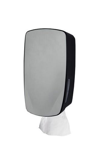 PlastiQline Exclusive mini Poetsrolhouder in zwart voor wandmontage PlastiQ-line-exclusive 5750