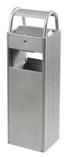 Kopa gecombineerde asbak/vuilnisbak 30L/6L met slot, leverbaar in 4 verschillende kleuren Rossignol 56445,56431,56446,56590