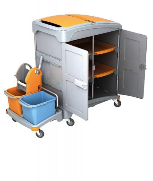 Splast mobiele plastic natte reiniging systeem met plank, wringer en emmers Splast TSZZ-0002