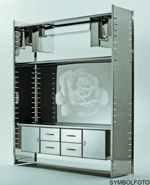 Graepel High Tech Hochwertiger Edelstahl CD-Halter fŸr das H2 oder H2 Giant Regalsystem Graepel Hightech K00089930