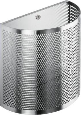 Franke vuilnisbak met slot halfrond BS610 gemaakt van chroomnikkelstaal voor wandopbouw Franke GmbH BS610