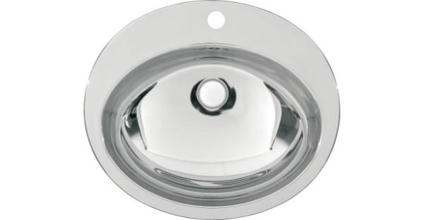 Franke ovale ounderbouw waskom RNDH451-O voor inbouw Franke GmbH Farbe:Edelstahl poliert RNDH451-O,RNDX451-O