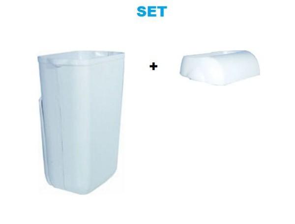 Set - Marplast plastic afval bin 23L MP 742 - met het klepje Marplast S.p.A. MP742,744