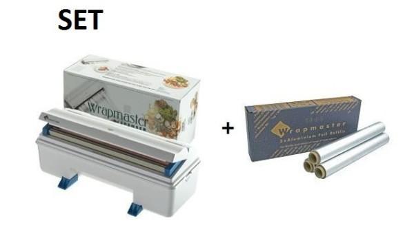 SET effici'nte Wrapmaster WM3000 dispenser en Wrapmaster aluminiumfolie 3000 Wrapmaster 63M90,24C62