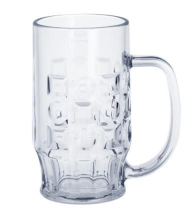 SET 12 stuks bierpul 0,4l uit kunststof is onbreekbaar, stapelbaar, herbruikbaar Schorm GmbH 9003