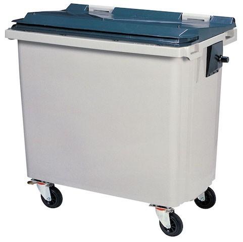 Rossignol Korok grijze polyethyleen afvalcontainer in 3 verschillende maten verkrijgbaar Rossignol 56640,56650,56660