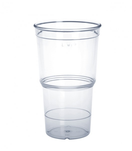 Plastic ECO-Cup available in 0,25l or 0,4l PC crystal clear Schorm GmbH 9064,9065