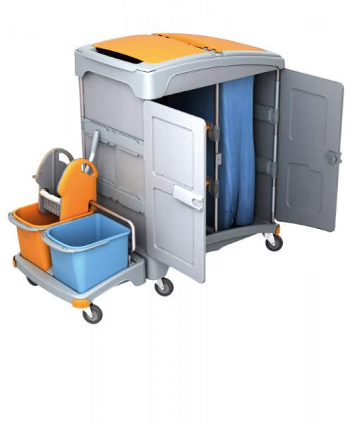 Splast natte reiniging systeem met wringer, emmers, 2 trays en afvalzakhouder Splast TSZZ-0001