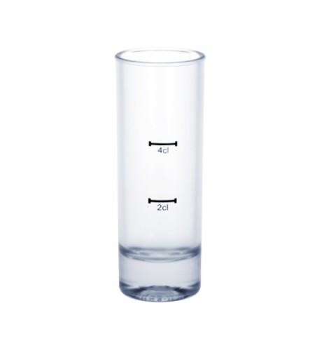 SET 12 stuks shot glazen van een hoogwaardig kunststof 2cl /4cl SAN herbruikbaar - Schorm GmbH 9043