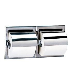Recessed stainless steel WC roll dispenser for 2 rolls available in 2 varaints Bobrick B-699 / B-6997
