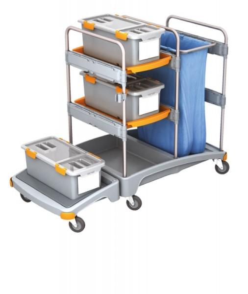 Splast reinigingssysteem met 3 mop dozen, plat en zakhouder - optionele bekleding Splast TSZD-0001,TSZD-0002