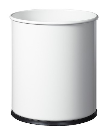 Trash papier 15L met grijprand en met plastic basis van Rossignol Rossignol 59580,59583,59805,59589,59590,59591,59825,59826,59827,59828,59592