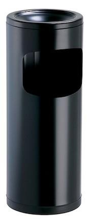 Cendeo asbak/vuilnisbak 0,15L/12,5L met zwarte plastic sokkel van Rossignol Rossignol 59775