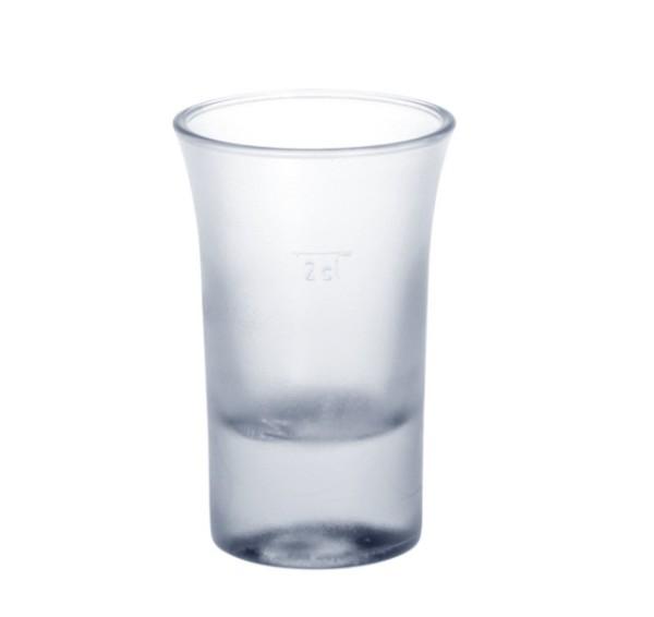 SET 20 stuks Shot glazen 2cl SAN Bevroren look van hoogwaardig kunststof - Schorm GmbH 9093