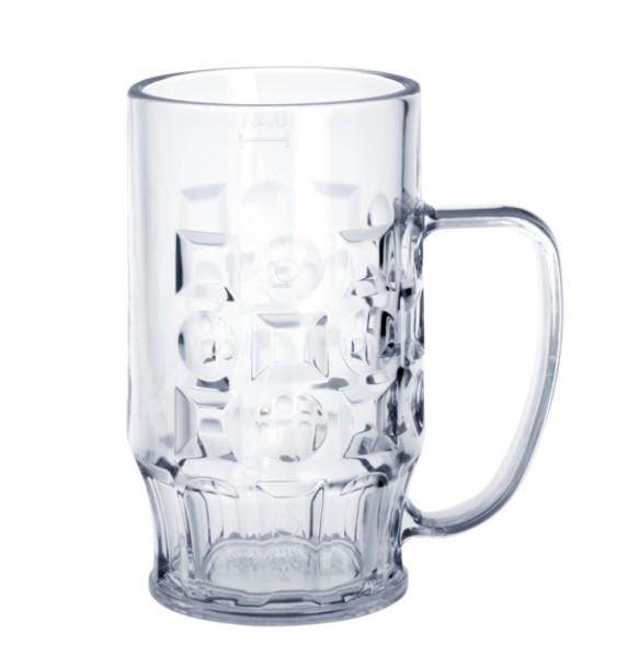 SET 20 stuks Bier mok 0,4l SAN kristal helder van plastic - vaatwasser bestendig - Schorm GmbH 9003