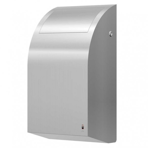 Trash can 30L made of brushed stainless steel for wall mounting from Dan Dryer Dan Dryer A/S 284