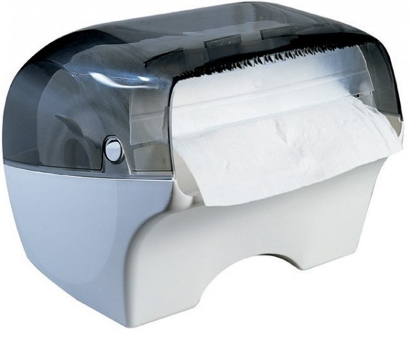 Marplast papertowel dispenser Bobinotto MP668 in white/transparent for wall mount Marplast S.p.A. 668