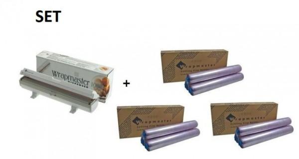 SET Wrapmaster 1000 + 3 dozen vershoudfolie uit polyethylen Wrapmaster 63M10,3x18C35