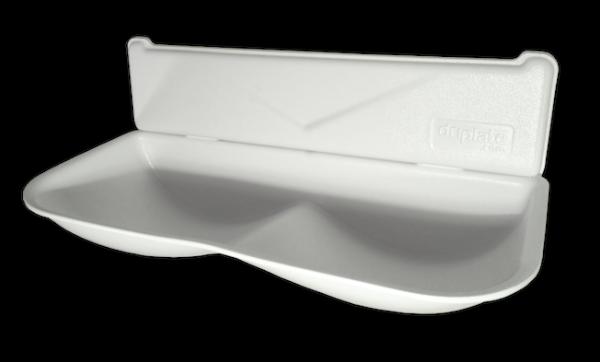 Driplate ª - water collector gemaakt van polycarbonaat-ABS Dyson handdroger Variante:Wei§