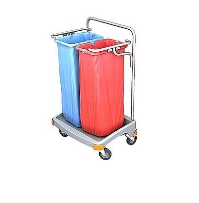 Splast dubbele plastic afval trolley 2 x 70l - deksel is een optie Splast TSO-0017,TSO-0018
