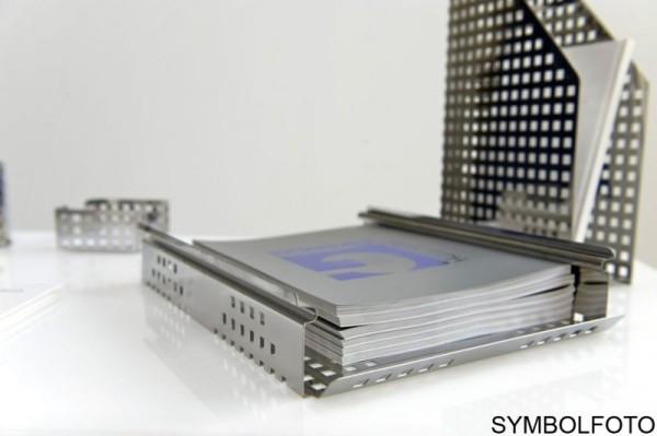 Premium QUADROTTO bureau organizer in zwart gelakt staal, G-Line Pro G-line Pro K00016182