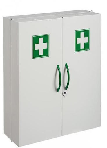 White Clinix medicine cabinet with body made of epoxy powder coated steel Rossignol 50201