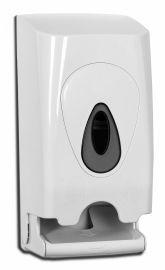 PlastiQline Toiletroldispenser voor wandmontage gemaakt van wit plastic PlastiQ-line 5591