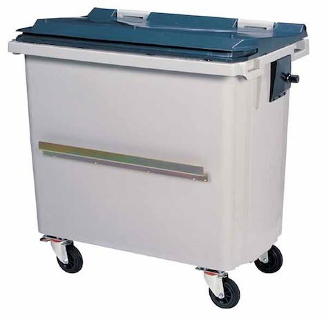 Rossignol Korok grijze polyethyleen afvalcontainer in 3 verschillende maten verkrijgbaar Rossignol 56645,56655,56665