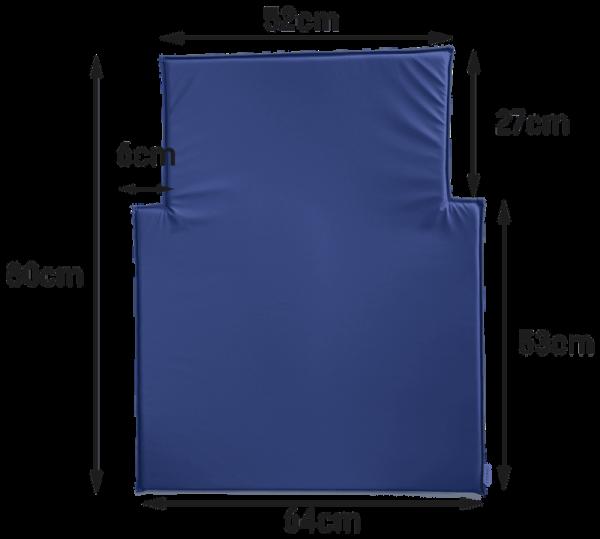 Timkid aankleedkussen voor de KAWAFORM modellen in blauw of wit. Afwasbaar. Timkid GmbH 100103-13a, 100103-14a, 100119-1, 100119-2,