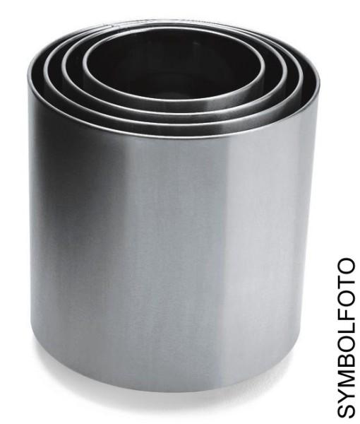 Bloempot overpot in italiaans design gemaakt uit gepolijst RvS, Graepel G-Line Pro Naxos, 6 maten G-line Pro K00031510,K00031530,K00031550,K00031570,K00031590,K00031580