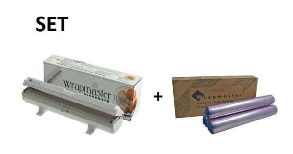 Vershoudfolie Wrapmaster 1000 en Wrapmaster 1000 dispenser voor nauwkeurige handling Wrapmaster 63M10,18C35
