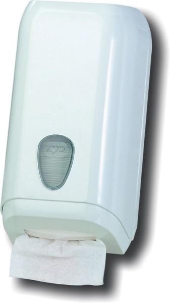 Dispenser voor toilet folies met 500 folies MP620 gemaakt van kunststof in wit Marplast S.p.A. A620
