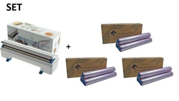 Wrapmaster 4500 Vershoudfolie 3 dozen en effici'nte Wrapmaster WM4500 dispenser Wrapmaster 63M91,3x18C15