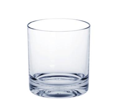 Set 10 stuks Whiskey-Glas SAN hoogwaardig plastic met extra dikke bodem - Schorm GmbH 9057