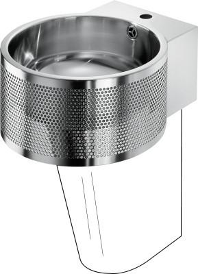 Franke chroomnikkelstaal wastafel BRP390 voor wandmontage Franke GmbH BRP390