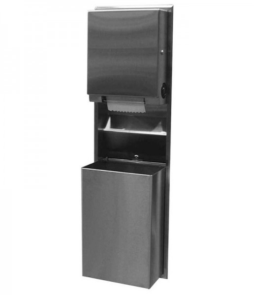 Bobrick 39617 recessed convertible paper towel dispenser and waste receptacle Bobrick B-39617