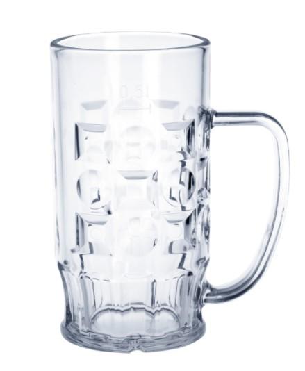 Bierpul van kunststof 0,3-0,5l is glashelder, licht, onbreekbaar, herbruikbaar Schorm GmbH 9003,9005,9007