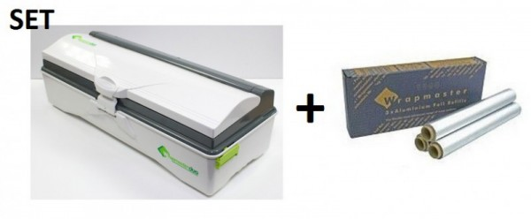SET Wrapmaster WM duo dispenser voor nauwkeurige handling en aluminiumfolie 4500 Wrapmaster 63M50,23C89