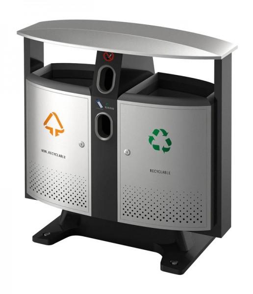 Buitenafvalbak afvalscheiding-batterijen 31650408