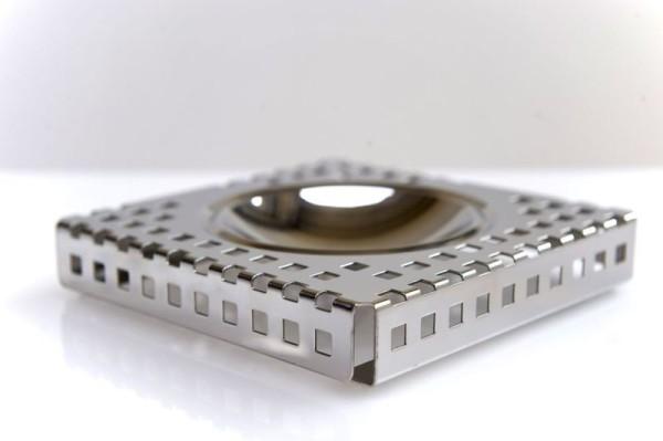 Graepel G-Line Pro QUADROTTO design asbak gemaakt uit gepolijst RvS G-line Pro K00016150