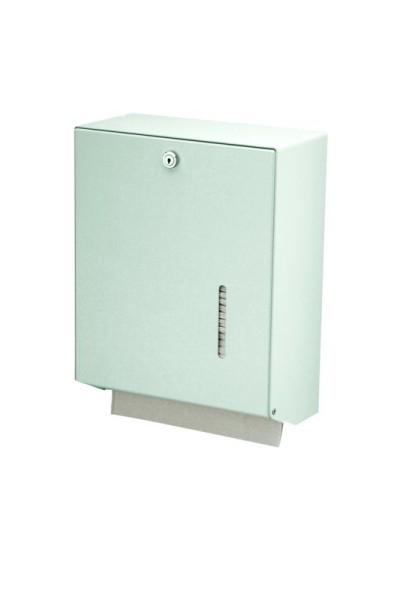 Handdoekdispenser aluminium groot met zichtvenster voor inhoudscontrole voor Wandmontage van MediQo-line MediQo-line 8175,8180,8085
