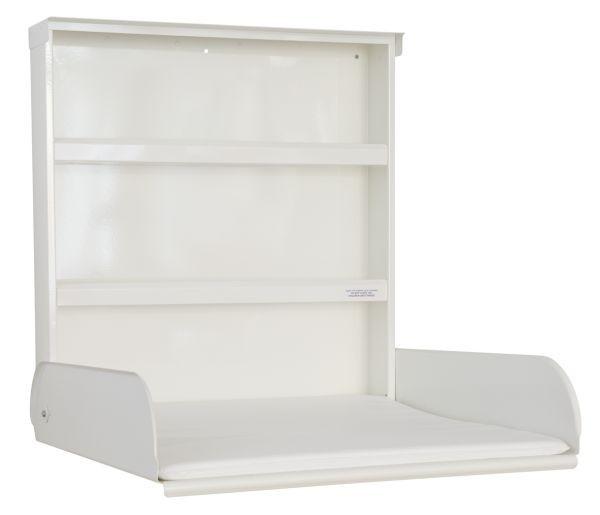 Babytafel van metaal opklapbaar + opbergsysteem + verschoonmatras - Design Wit ByBo Design 10206