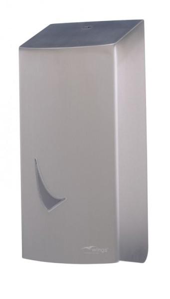Toiletpapier dispenser enkel blad van roestvrij staal van Wings Wings 4142
