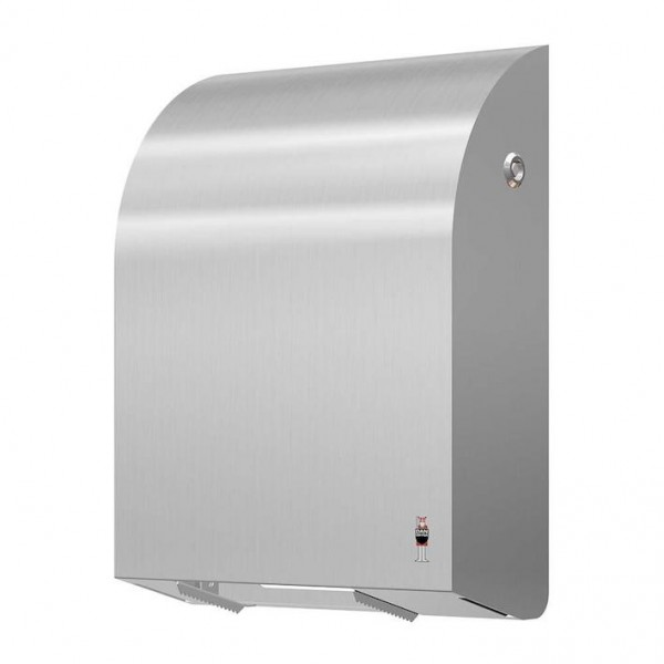 WC-roll holder made of brushed stainless steel for 4 standard rolls from Dan Dryer Dan Dryer A/S 285