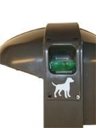 Afvalbak Cibeles 50 ltr met cassette voor hondenpoepzakjes 31061617