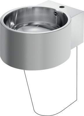 Franke wastafel BRC390SF gemaakt van chroomnikkelstaal voor wandmontage Franke GmbH BRC390SF