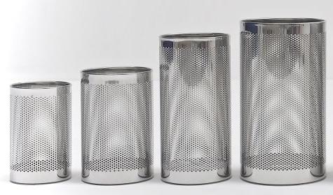 FORATO hoogwaardige design mat geslepen RvS afvalbak of vuilnisbak Graepel G-Line Pro G-line Pro K00021110,K00021130,K00021150,K00021170