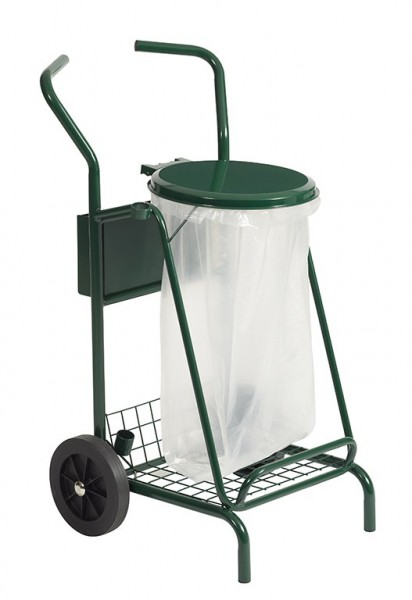 Mobisac mobiele afvalcontainer 110L met wielen van massief rubber van Rossignol Rossignol 57630