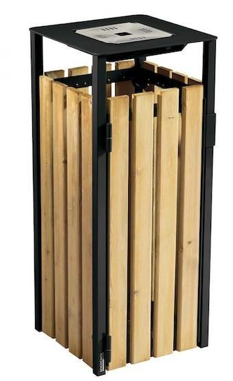Eden prullenbak 110L gemaakt van staal met corrosiewerende behandeling Rossignol 56395,56396,56397